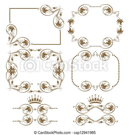 Un marco decorativo - csp12941985