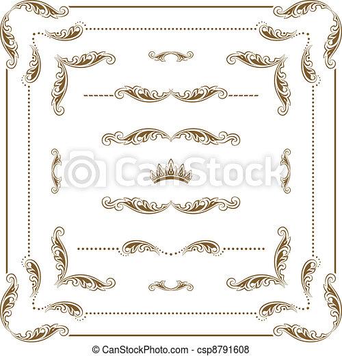 Un marco decorativo - csp8791608