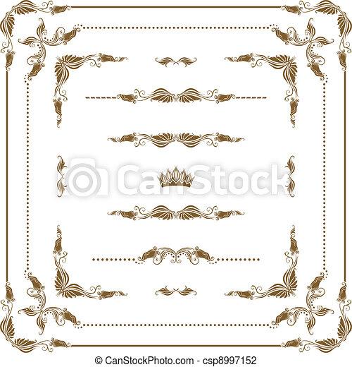 Un marco decorativo - csp8997152