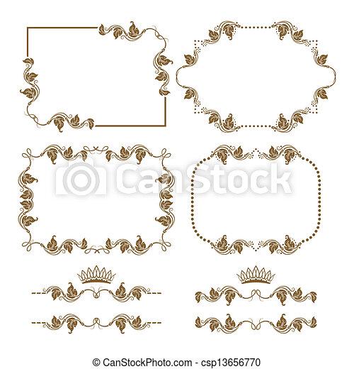 Un marco decorativo - csp13656770