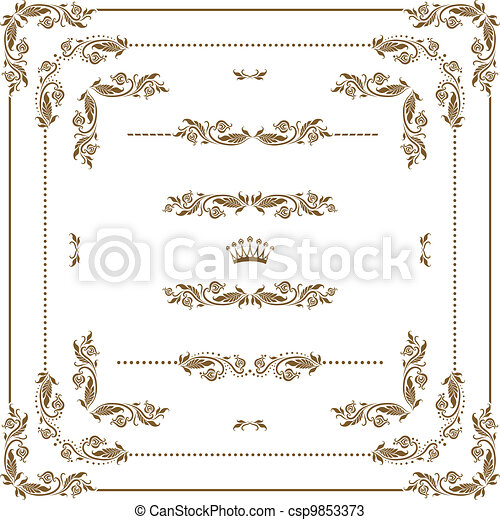 Un marco decorativo - csp9853373