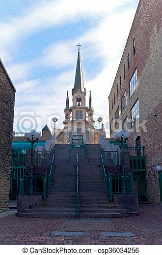 marco, distric, histórico, igreja - csp36034256