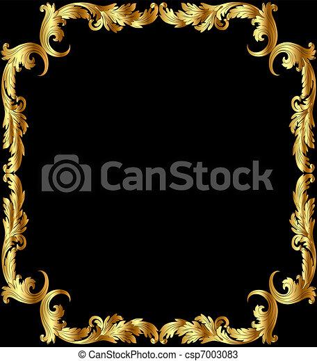 Un marco de ilustración de oro - csp7003083