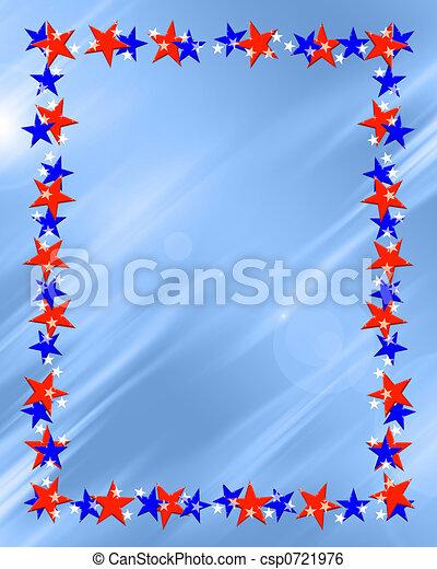 Marco estrella, frontera. Estrella azul, plano de fondo, biselado ...
