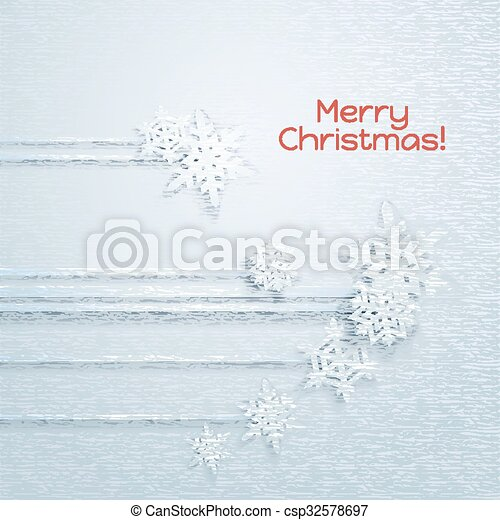 Copos de nieve - csp32578697
