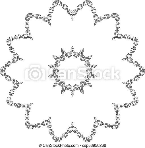Un marco de flor encadenado - csp58950268
