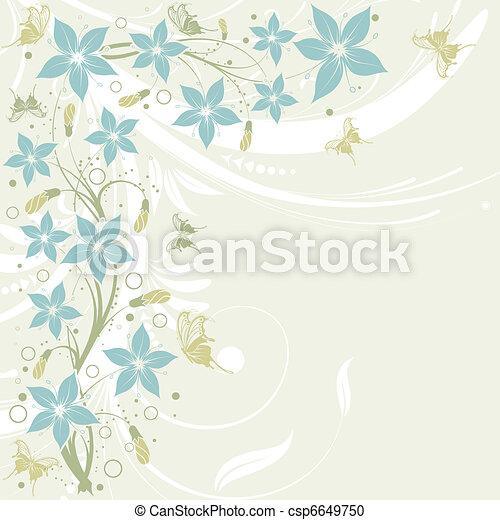 Un marco de flores - csp6649750