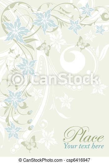 Un marco de flores - csp6416947