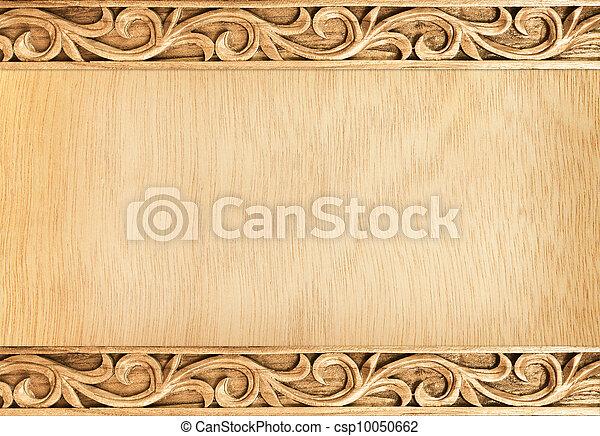 Un marco tallado de flores - csp10050662
