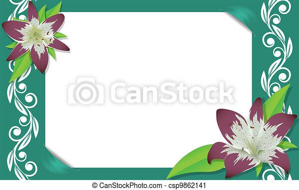 Un marco floral - csp9862141