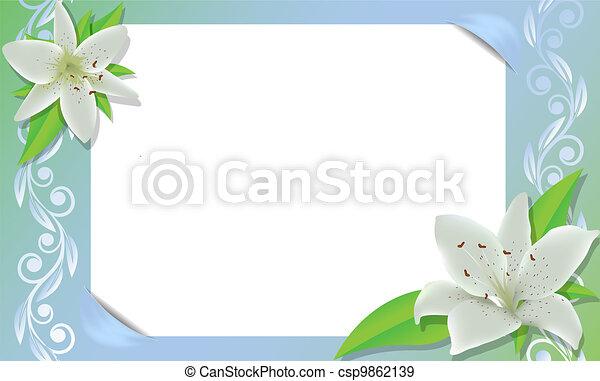Un marco floral - csp9862139
