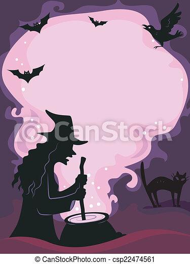 El marco de Halloween - csp22474561