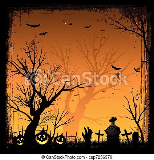 El marco de Halloween - csp7256370