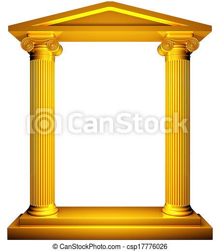 Un marco de oro iónico - csp17776026
