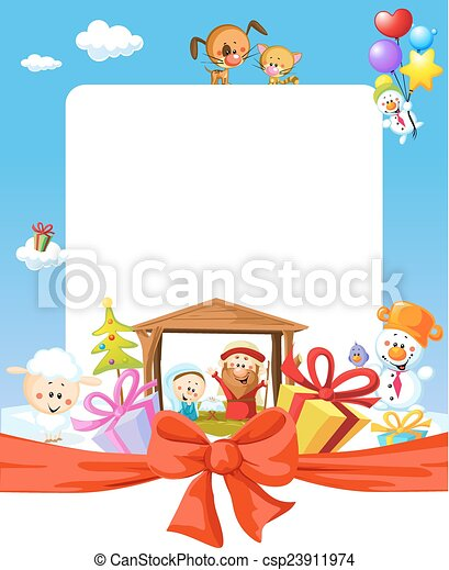 Fotos Del Nacimiento De Navidad.Marco Ilustracion Nacimiento De Navidad Joseph Jesus Caricatura Maria