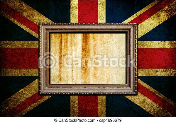 Enmarcado en bandera de Inglaterra - csp4696679