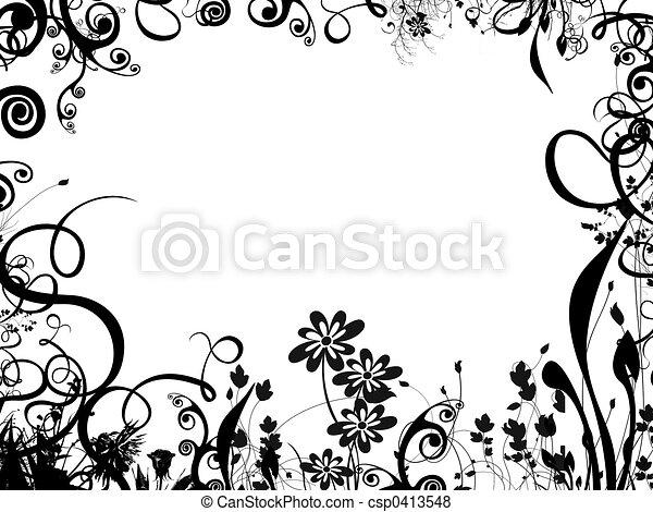marco, lleno, follaje - csp0413548