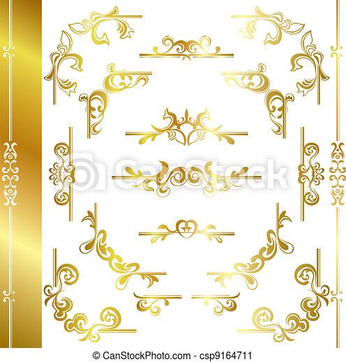 Un marco de lujo de oro - csp9164711