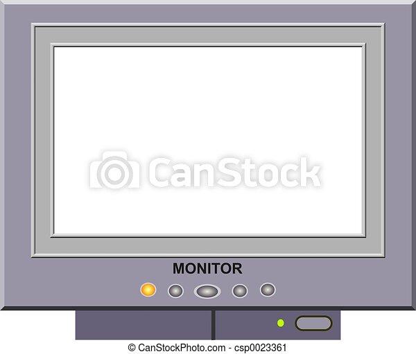 Marco, monitor de la computadora, border.