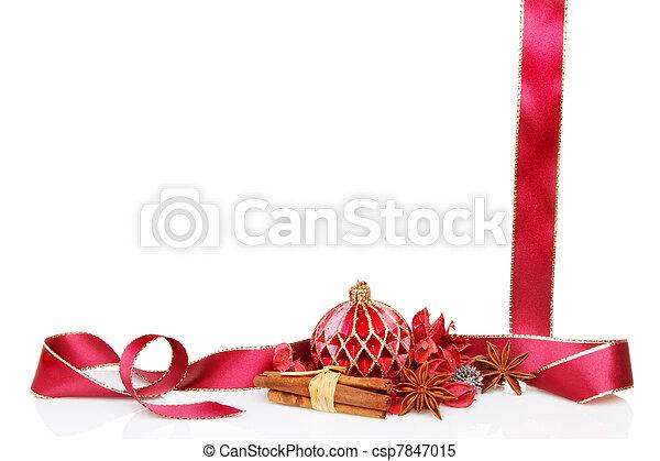 El marco de Navidad - csp7847015