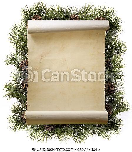 El marco de Navidad - csp7778046