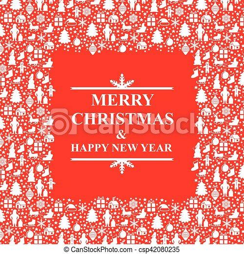 Un marco de Navidad - csp42080235