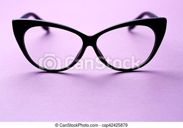 Marco, negro, lentes, anteojos. Púrpura, claro, negro, lentes, plano ...