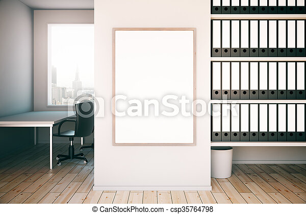 Marco, oficina, blanco. Arriba, shelves., oficina, marco, pared ...