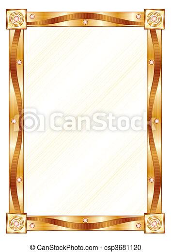 Un marco de oro - csp3681120