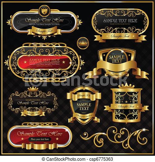 Un marco de oro - csp6775363