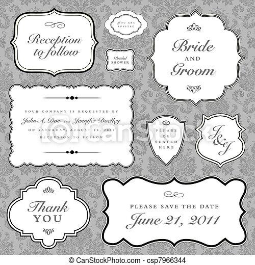 El marco de la boda Vector - csp7966344