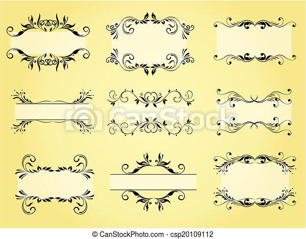 Vector ornamento y adorno - csp20109112