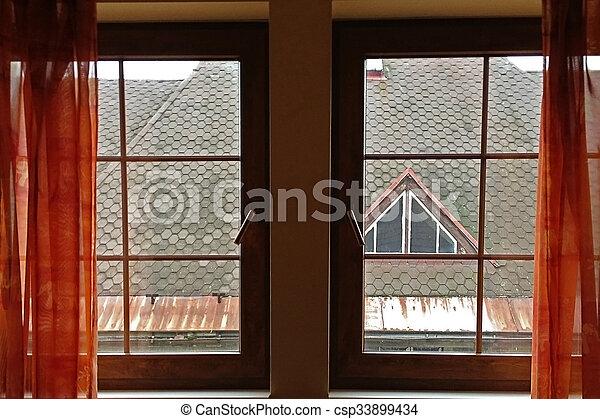 Un marco de ventana - csp33899434