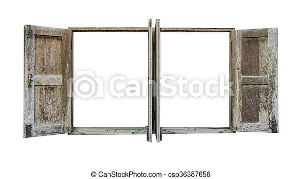 Un marco de ventana - csp36387656