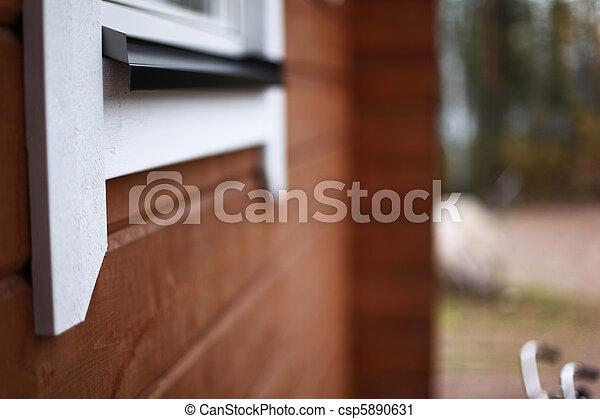 El marco de la ventana - csp5890631