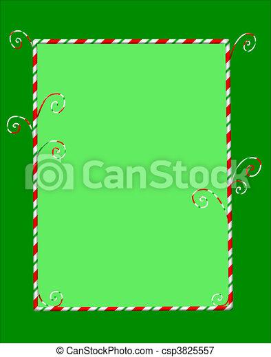 Enmarcado de caramelo en verde - csp3825557