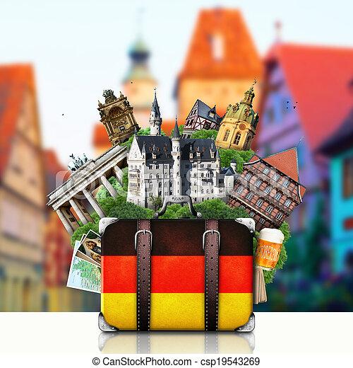marcos, alemão, viagem, alemanha - csp19543269