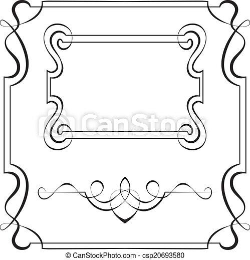 Marcos, diseño, vector, conjunto. Vector, marcos, diseño determinado ...