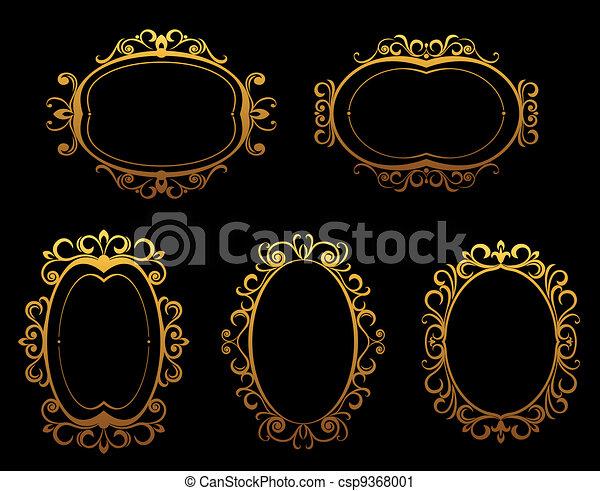 Cuadros de oro y fronteras - csp9368001
