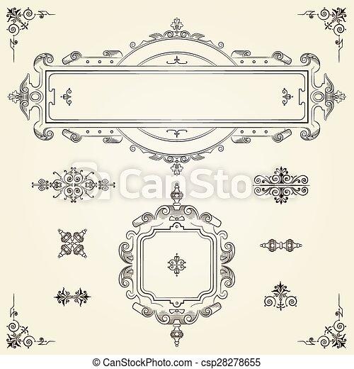 Frase de frontera rectangular ornamental - csp28278655