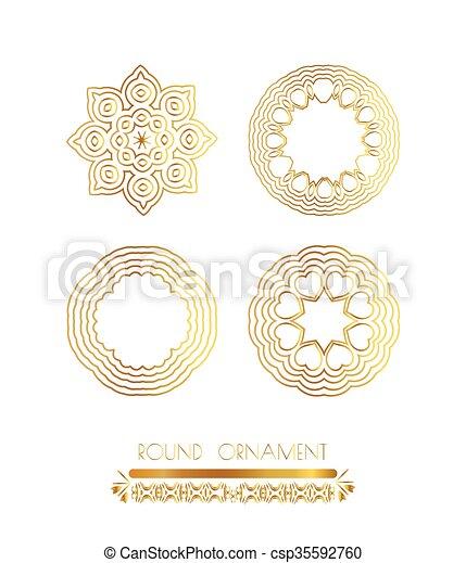 Ornamentales marcos de oro - csp35592760