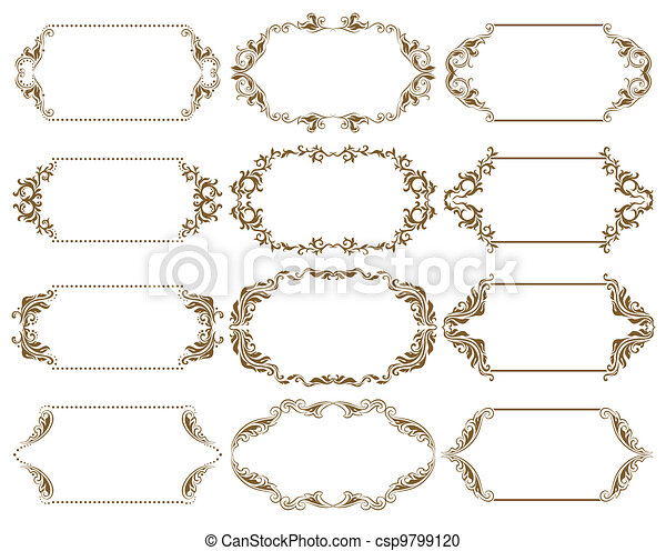 Un set de vectores ornativos - csp9799120