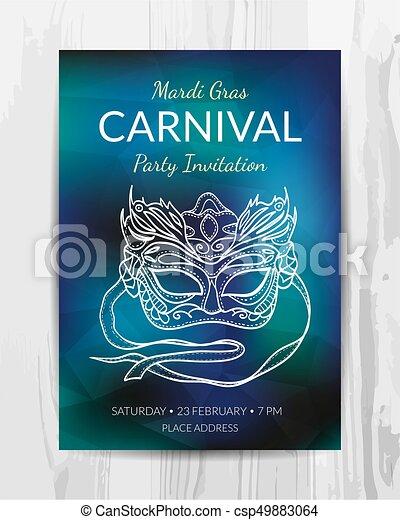 Tarjeta De Invitación Para La Fiesta Del Carnaval El Vuelo