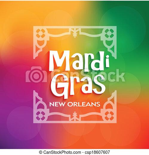 mardi, cartaz, vetorial, celebratio, gras - csp18607607