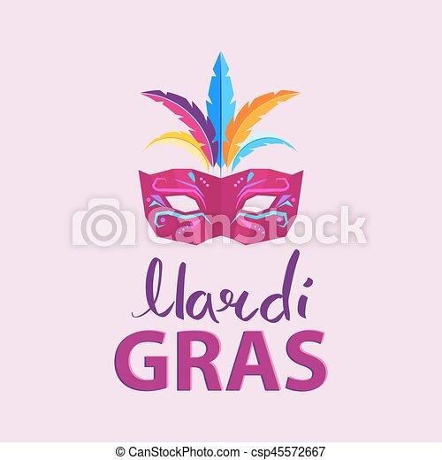 Mardi Gras. Advertisement Poster Illustration - csp45572667