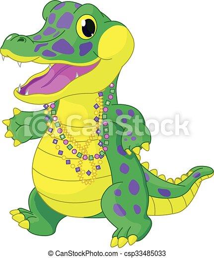 Mardi Gras Alligator - csp33485033