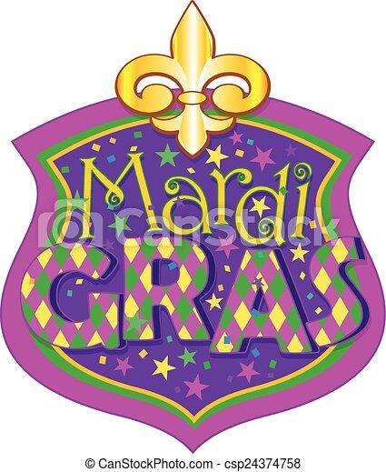 mardi gras blazon illustration of mardi gras blazon clipart vector rh canstockphoto com mardi gras clipart mask mardi gras clipart black and white