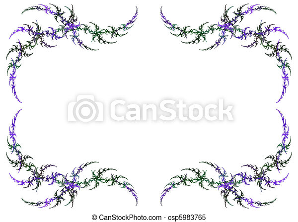 Mardi gras colored fractal frame. Mardi gras colored fractal frame ...
