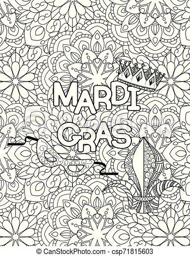 Printable Mardi Gras Coloring Pages | ColoringMe.com | 470x347