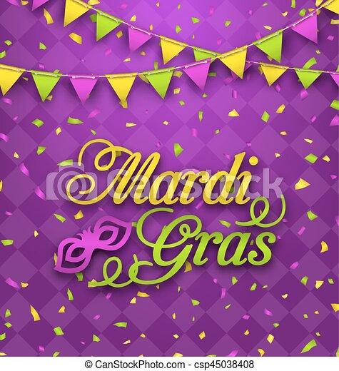 Illustration mardi gras lettering background invitation for fat mardi gras lettering background invitation for fat tuesday csp45038408 m4hsunfo